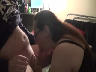 Whore wife on her knees