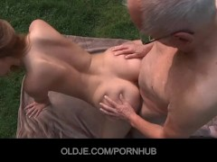 Old man eating Young pussy
