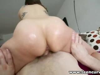 TeenCurves Round ass babe deepthroats and rides big schlong