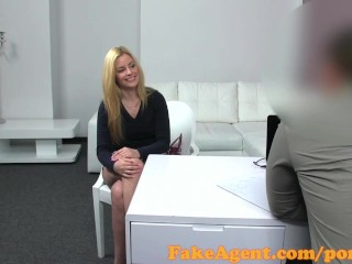 Very Big Tits Tube FakeAgent Super hot blonde loves big cock