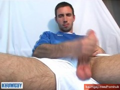 Ludo has a big dick! See him gets wanked his huge cock by us !