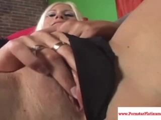 Puma Swede stroking her wet pussy
