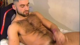 French hunk Sagat serviced by us! Gets wa,ked his huge cock by us!