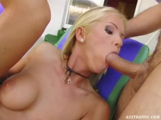 Preview 5 of Ass Traffic hard anal on blonde followed by a facial