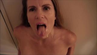 POV Blowjob and Facial Orgasm lesbian