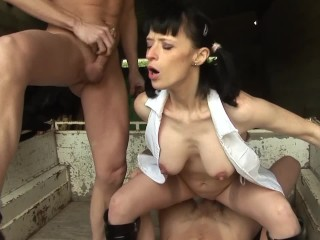 Forced girl to lesbian