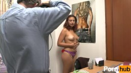 Young french couple casting