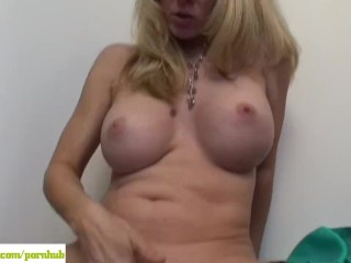 Busty Cougar Angela Attison Masturbating