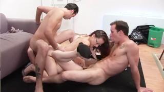 fondles womans boob video