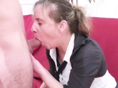 Blonde fucked hard slut
