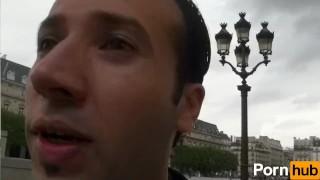 French slut gets Jizz all over her tits porno