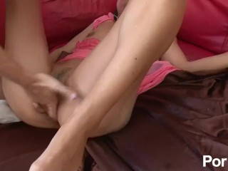 French slut takes a big cock up her ass