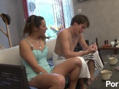 french babe catches her step-brother in the shower