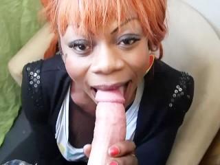 Busty ebony gets fucked hard