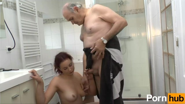 Woman with red pubic hair and redhead - Rehead fucks her boyfriend then his dad