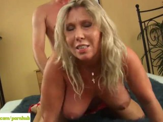 Busty Older Blonde Sandy Fucked Hard