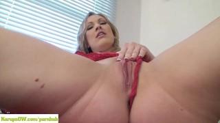 Vicky Vixen Vibrates Pussy
