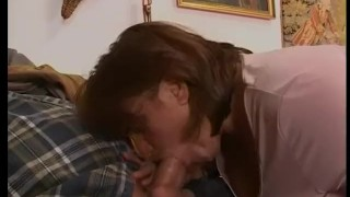 Euro and fucking brunette mature sucking doggy big
