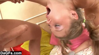Flexible Teen Throat Fucked And Facialized