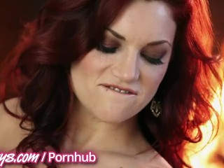 Elle Alexandra and Jay are perfect redheads