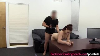 Young Mom Anal, Orgasm & Creampie on Casting Couch Job big