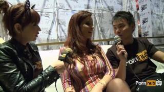 PornhubTV Syren De Mer Interview at 2014 AVN Awards Xmas parody