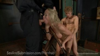 Sexy MILF Fucked By Security Guards Cumshot tits