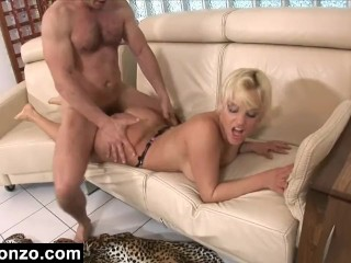 Husband Blindfolds Wife Face Fucking, Big Booty White Cock Sex