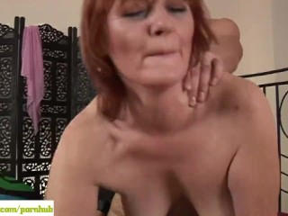 Cock To Fat For Small Pussy Older Redhead Helga Fucked Doggystyle