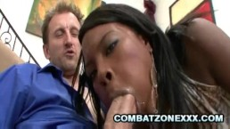 Coffee Brown - Black Teenie Drilled By A White Daddy Cock