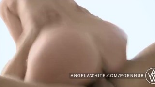 White cock fucks big angela huge a tits brunette eating