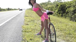 Stranded Teens Flashing Hitchhiker Nadia Capri