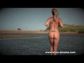 Public nudity and masturbation on the beach