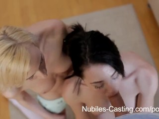 Preview 4 of Nubiles Casting - Cum swallowing cutie really wants this job