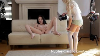Preview 2 of Nubiles Casting - Cum swallowing cutie really wants this job