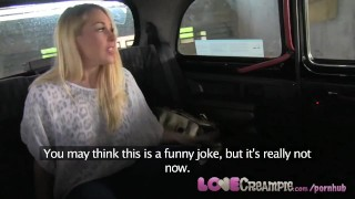LoveCreampie Stunning busty blonde lets taxi driver cum inside for cash Censored japanese
