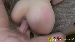 FakeAgentUK Sexy Italian babe shows unbelievable deep throat skills  point of view homemade british italian fakeagentuk audition amateur casting busty hardcore office reality fingering interview doggystyle tight ass