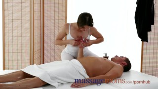 Massage Rooms Big boobs masseuse enjoys fat cock in her tight oiled hole Amateur panties
