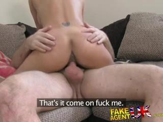 FakeAgentUK Petite girl, big tits, great fuck, job done