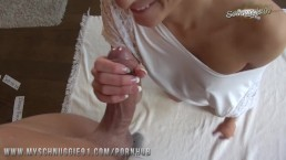 Schnuggie91 - German blonde GF shows Easter surprise!