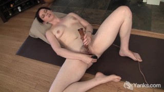 Sexy Brunette Savannah Toying Her Pussy Toy sexy