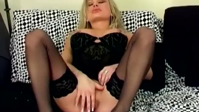Pussy smother facetting thigh high stockings Fingering her wet pussy in black thigh high stockings and high heels
