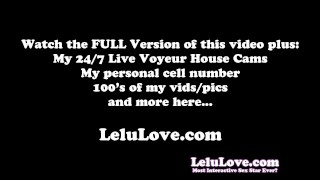 Lelu Love-Making You My FemDom Slave  homemade panties hd humiliation foot femdom amateur solo sph lelu fetish domination brunette barefoot feet clothed