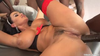 Lisa Ann Interracial Gangbang Mom tits