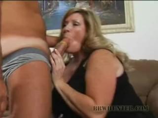 BBW Deedra Picks Cock Sucking Over A Hotdog Cart