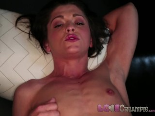 Love Creampie Petite student with very small tits takes your cum inside POV