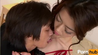 Gokujo Celeb Fujin - Scene 1 3some hardcore mmf bj blowjob fingering hairy-pussy vibrator pussylicking japanese threesome creampie brunette oral toy