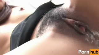 Last Maho - Scene 2  close up hairy pussy creampie reverse cowgirl oral blowjob small tits handjob gangbang japanese brunette uniform doggystyle facial pussy licking