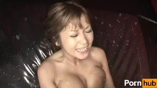 Lotion Ero Dance - Scene 1  pole dancing licking big-tits pussy-licking sucking lotion blowjob titty-fuck 69 handjob vibrator japanese brunette oil rubbing