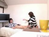 【無修正】飯島くらら(いいじまくらら) 高速手こきとフェラ抜きでカレをイカせる健気な娘